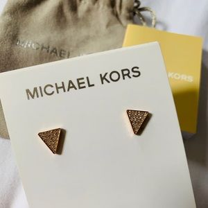 Michael Kors Crystal Pave Triangle Earrings
